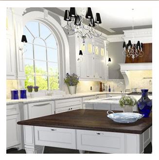 Kitchen Design - 3D Rendering for Client