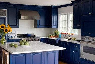 kitchen cabinet colors navy