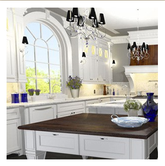 Kitchen Design - 3D Rendering for Client