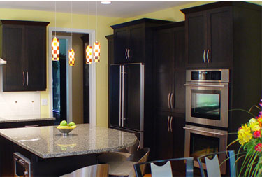 kitchen cabinet color black